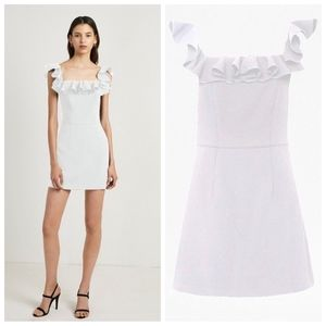 French connection ruffle off shoulder dress